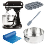 KitchenAid K5 Heavy Duty Stand Mixer 4.8Ltr 5KPM5EOB Starter Kit Bundle