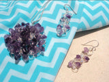 Birthstone Silver Crochet Earrings