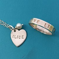 2. Personalised Pendant / Ring Workshop Saturday 24th November 10am - 1pm