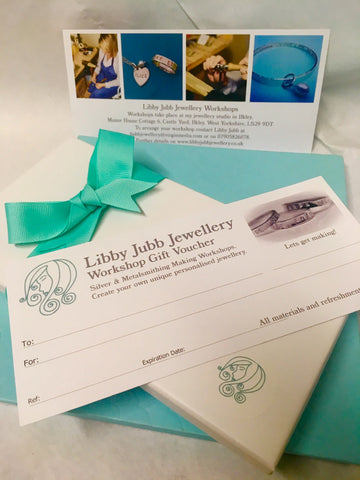Voucher for Jewellery Half Day Workshop for One:One Tuition