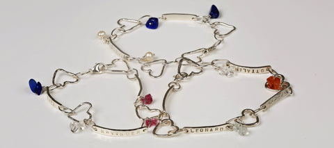 Linked By Love Personalised Silver Bracelet