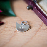 Personalised Silver Circle Pendant With Bird And Chick