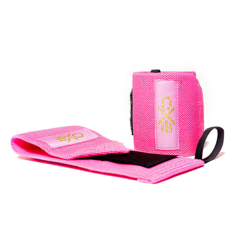 COTTON WRIST WRAPS - NEON PINK
