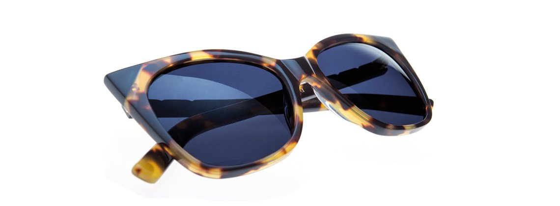Cat & Mouse Sunglasses - Dark Tortoise/ Black