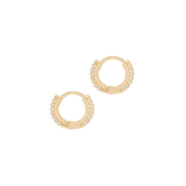 Gold Light Catcher Hoops