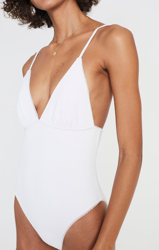 Violette One Piece - White Rib