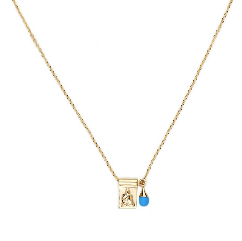 Gold Little Buddha & Sleeping Beauty Necklace