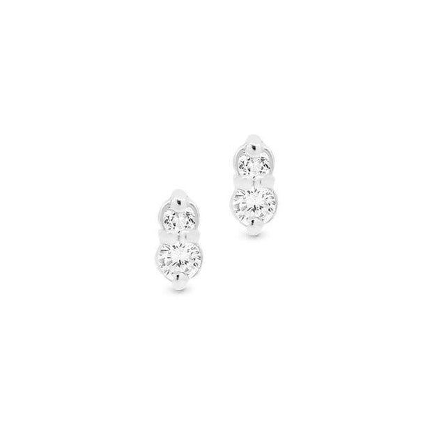 Silver Air Stud Earrings