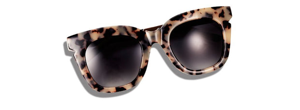 Pools & Palms Sunglasses - Cookies & Cream / Rose Gold