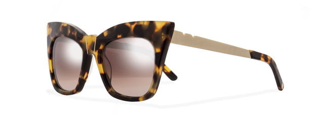 Kohl & Kaftans Sunglasses (Titanium Arm) - Dark Tortoise / Brown