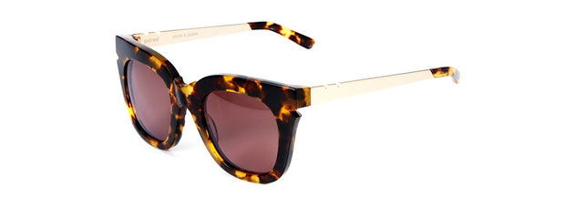 Pools & Palms Sunglasses - Dark Tortoise / Gold Titanium