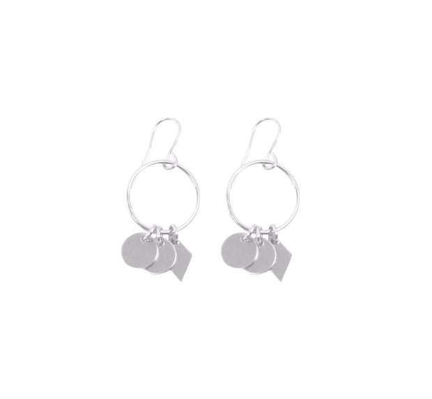 Mini Ring Charms Earring - Sterling Silver
