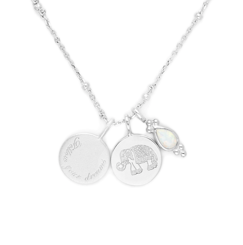 Silver Follow Your Dreams Necklace