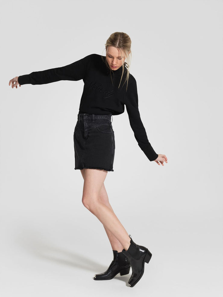 VLine Piper Skirt - Black on Black