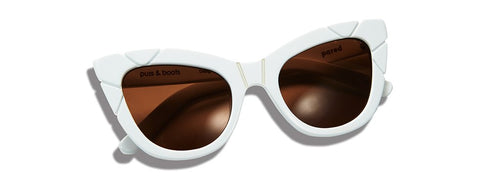 Puss & Boots Sunglasses - White