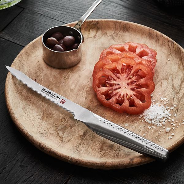 Global Tomatkniv stål 13 cm