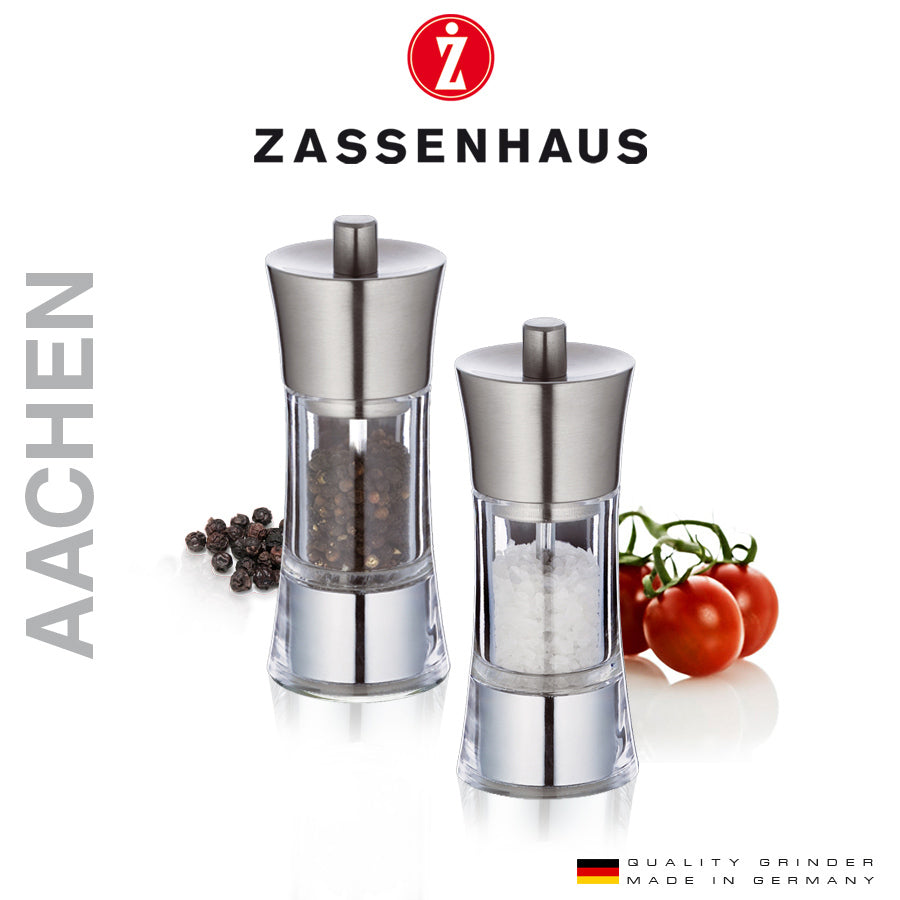 ZASSENHAUS AACHEN PEPPERKVERN ACRYL/STÅL 14CM - Tablo.no