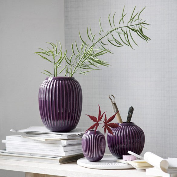 KÄHLER HAMMERSHØI VASE MINI PLUM - Tablo.no