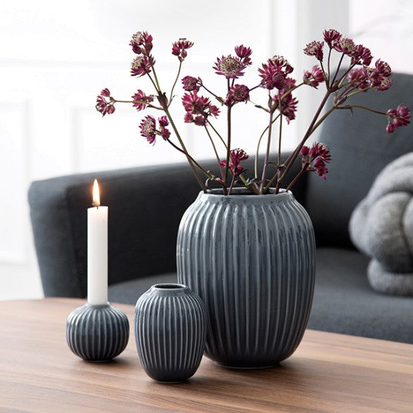 KÄHLER HAMMERSHØI VASE MEDIUM ANTHRACITE - Tablo.no