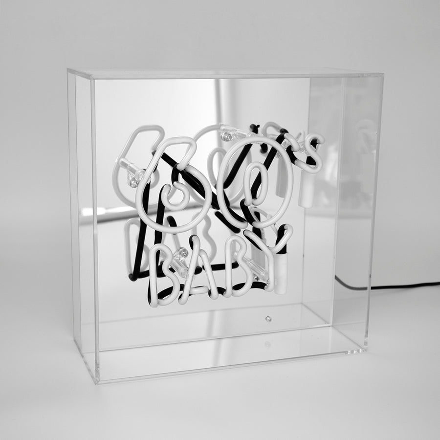 Acrylic Box Neon Light - 60's Baby - Locomocean