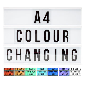 A4 Colour Changing Lightbox - Locomocean