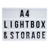 A4 Black Lightbox