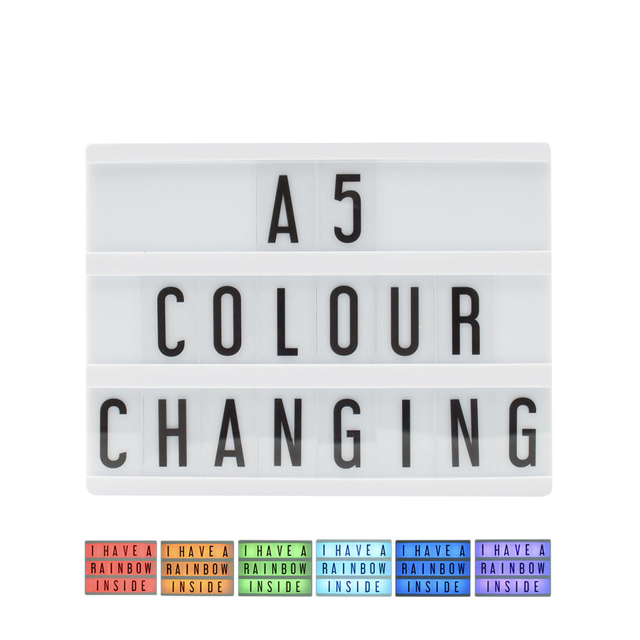 A5 Colour Changing Lightbox - Locomocean Ltd