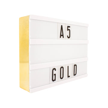 A5 Gold Lightbox - Locomocean