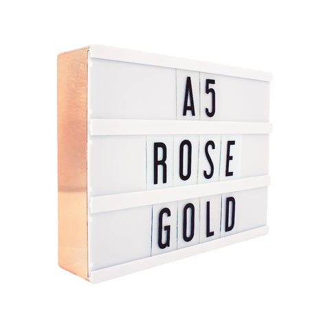 A5 Rose Gold Lightbox