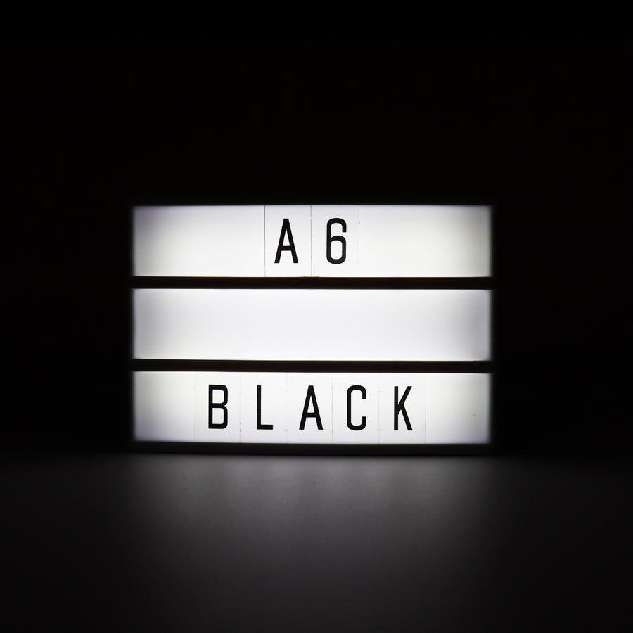 A6 Magnetic Lightbox - Black - Locomocean