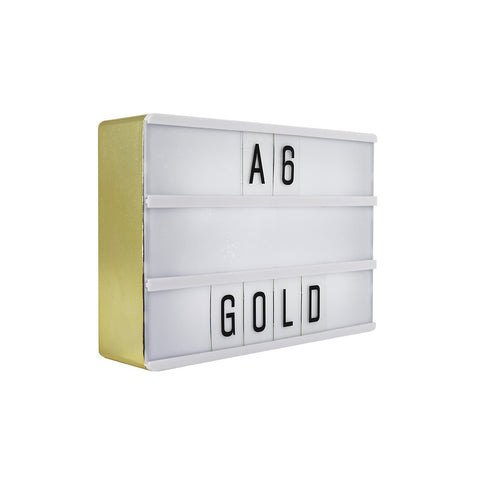 A6 Magnetic Lightbox - Gold