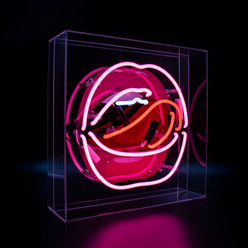 Mouth Acrylic Box Neon Light with Graphic - Locomocean
