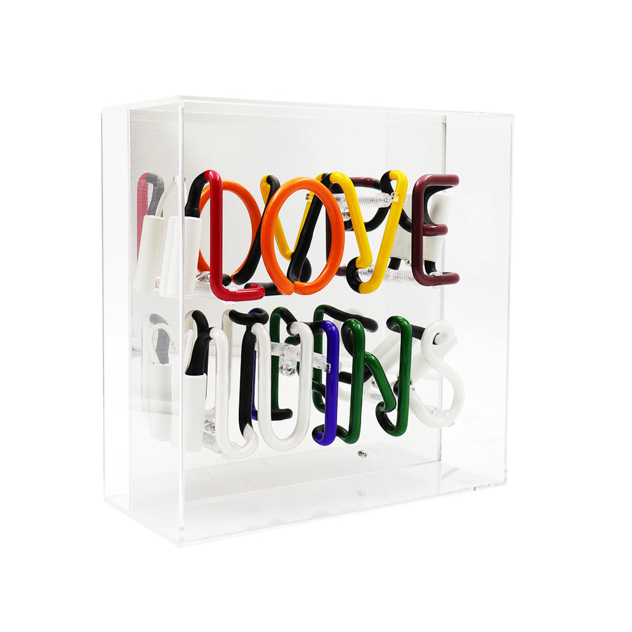 'Love Wins' Acrylic Box Neon Light - Locomocean Ltd