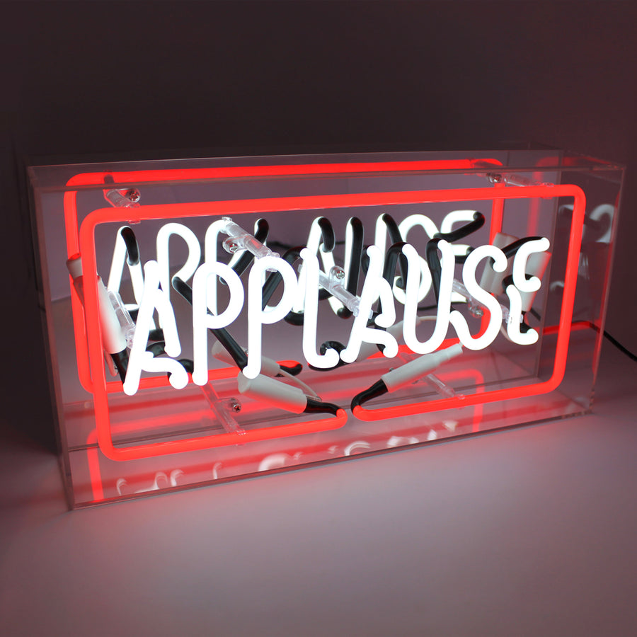 'Applause' Acrylic Box Neon Light - Locomocean Ltd