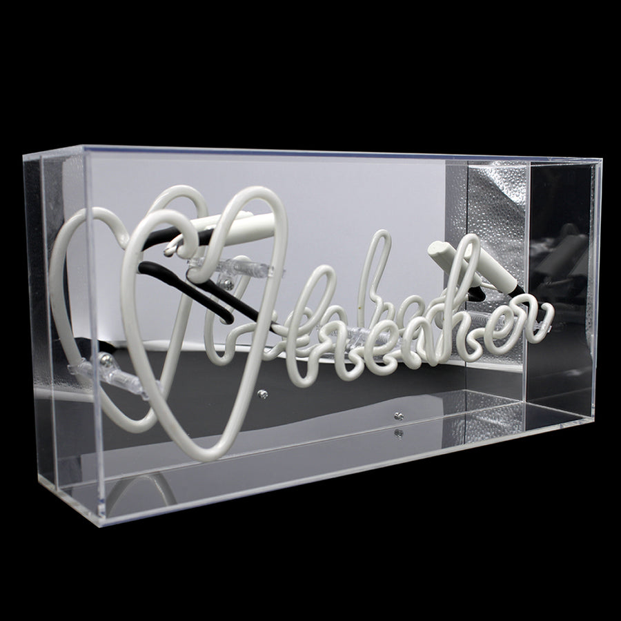 Pink and White 'Heart Breaker' Acrylic Box Neon Light - Locomocean
