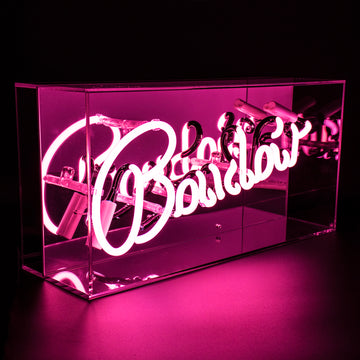 'Boudoir' Acrylic Box Neon Light - Locomocean