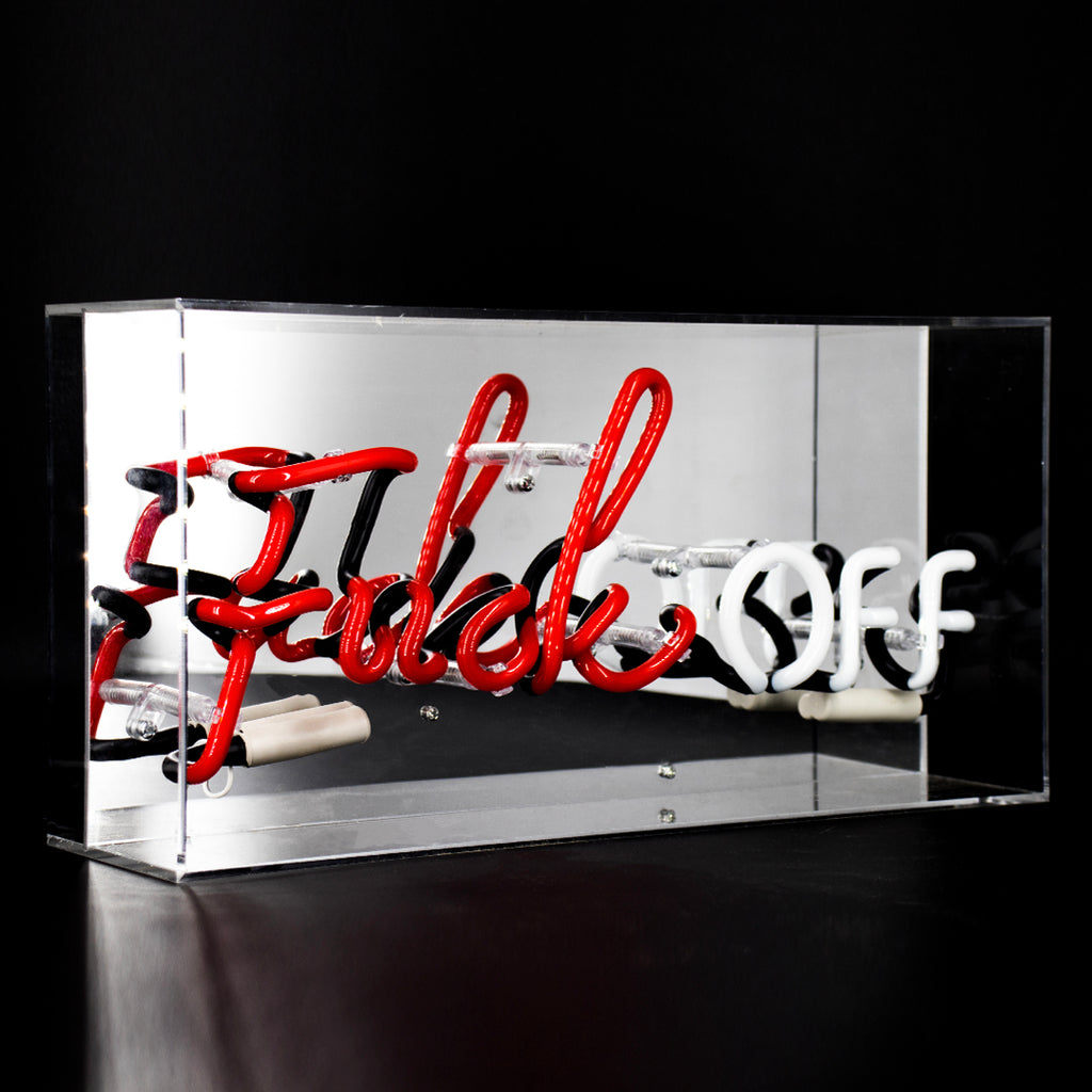 'Fuck Off' Acrylic Box Neon