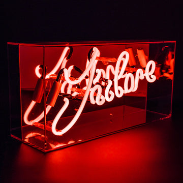 'J'adore' Acrylic Box Neon Light - Locomocean