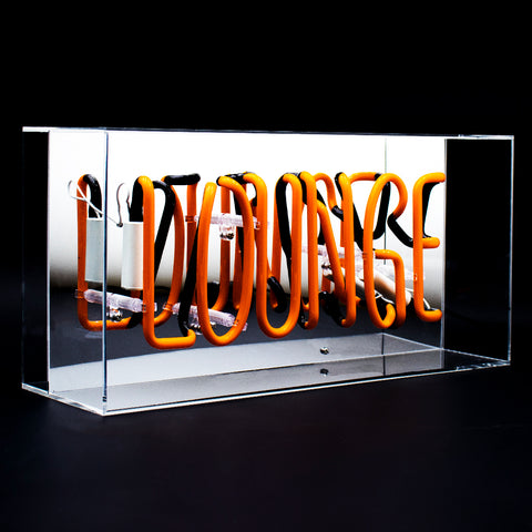 'Lounge' Acrylic Box Neon