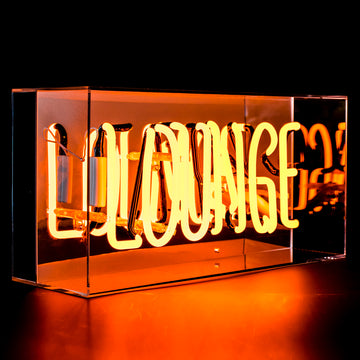 'Lounge' Acrylic Box Neon Light - Locomocean
