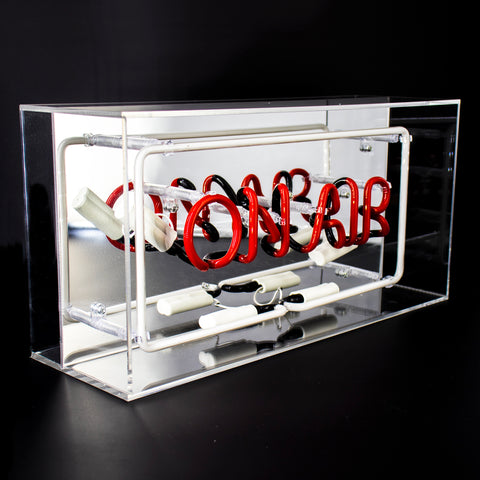 'On Air' Acrylic Box Neon