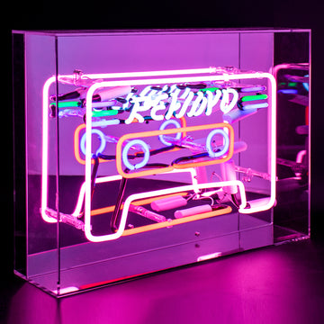 'Cassette' Acrylic Box Neon Light - Locomocean