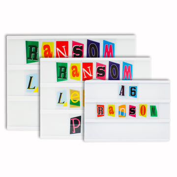 Ransom Style Colourful Extra Letters & Symbols Pack - Locomocean