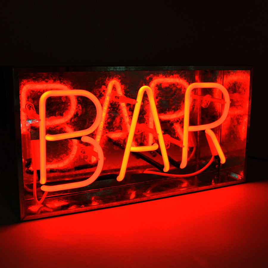 'Bar' Metal Box Neon - Locomocean