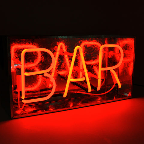 'Bar' Metal Box Neon