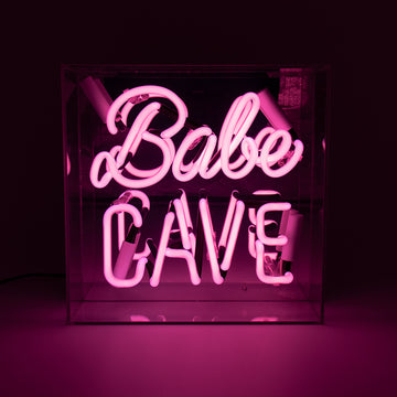 'Babe Cave' Acrylic Box Neon Light - Locomocean