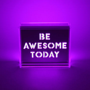 Purple - Mini Acrylic Box LED - Locomocean