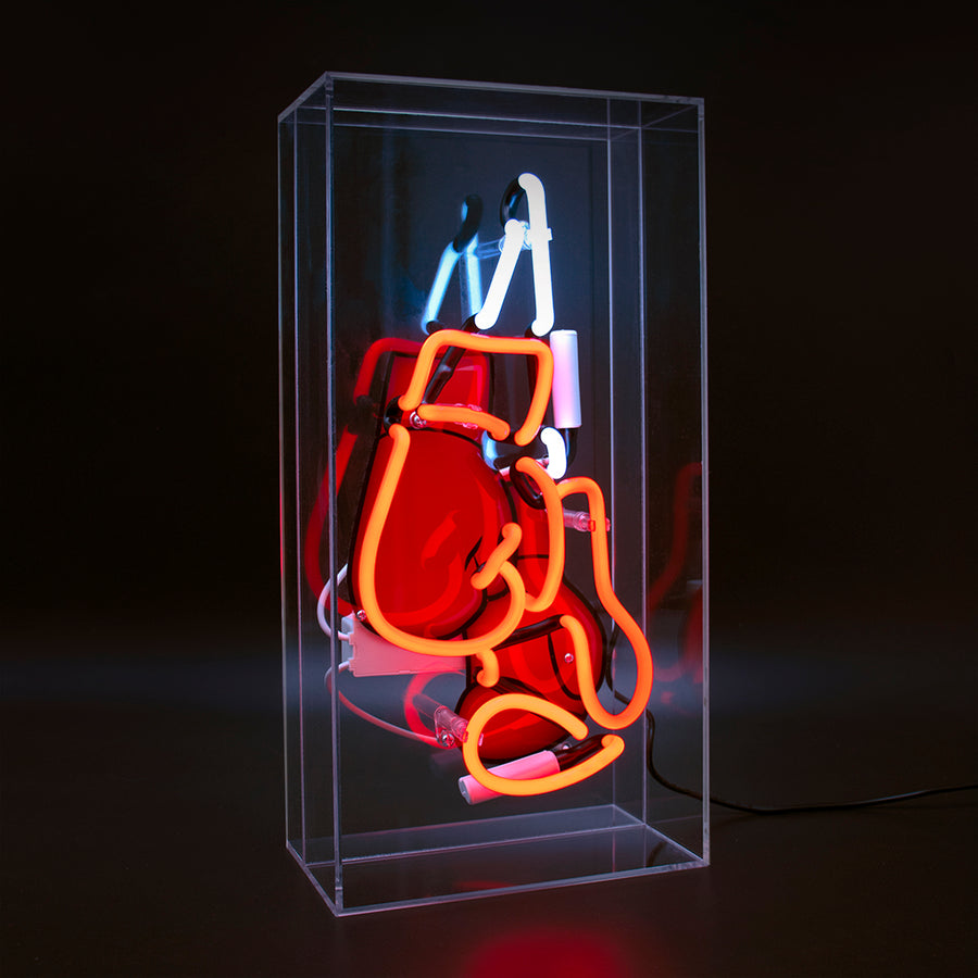 'Boxing' Large Acrylic Box Neon - Boxing Gloves with Graphic - Locomocean