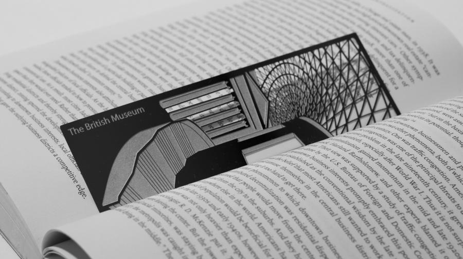 The British Museum - Stainless Steel Bookmark - Locomocean Ltd