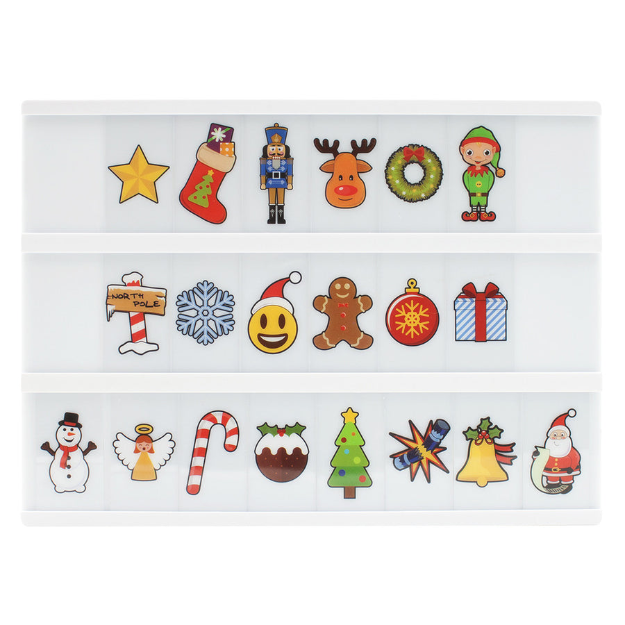 Christmas Letter Pack For A4 lightbox - Locomocean